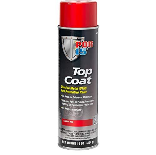 POR-15 46118 Top Coat Safety Red Spray Paint, 16. Fluid_Ounces