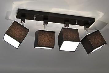 Designer Decken Leuchte Lampe Retro Spot Strahler E27 Power New York 11 Sockelfarbe Wenge