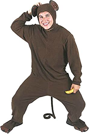 Adultu0027s Monkey Halloween Costume (Size Standard ...  sc 1 st  Amazon.com & Amazon.com: Adultu0027s Monkey Halloween Costume (Size: Standard 42-46 ...