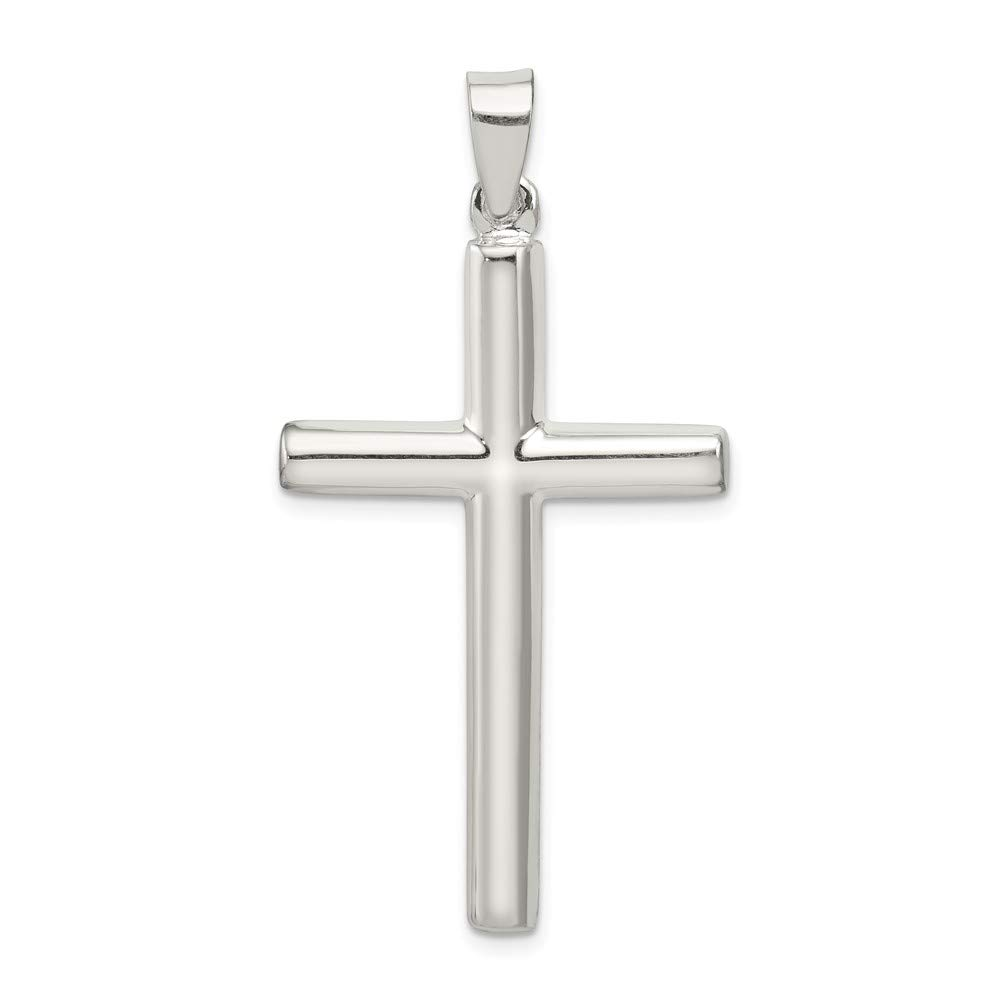 23mm x 44mm Solid 925 Sterling Silver Cross Pendant