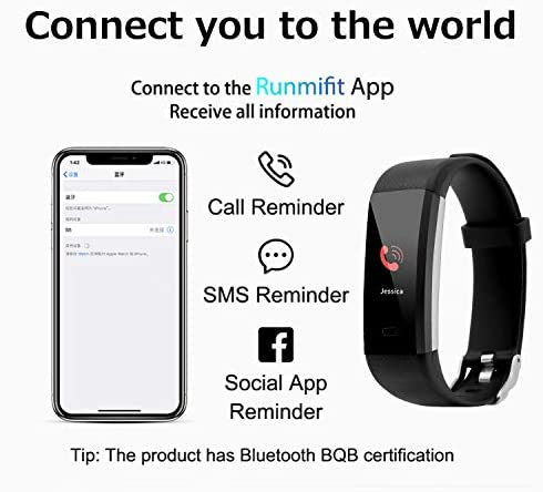 Fitness Tracker with Blood Pressure Heart Rate Sleep Monitor Temperature Monitor, Activity Tracker Smart Watch Pedometer Step Counter for iPhone & Android Phones for Kids Man Women 4