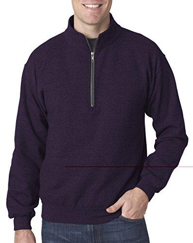 Gildan Adult Vintage 1/4-Zip Cadet Collar Sweatshirt, Blackberry (50/50), (1/4 Zip Adult Pullover)