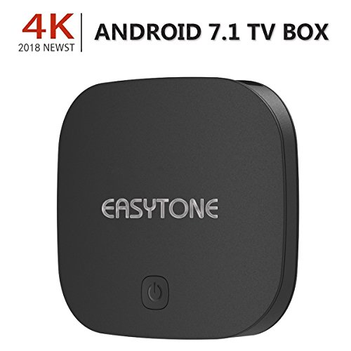 EASYTONE Android 7.1 TV Box,2018 Model Smart TV Box Quad-core/1GB+8GB Supporting 4K (60Hz) Full HD /H.265 /2.4G WiFi /HD 2.0 T95D Android Box (Android Boxes)