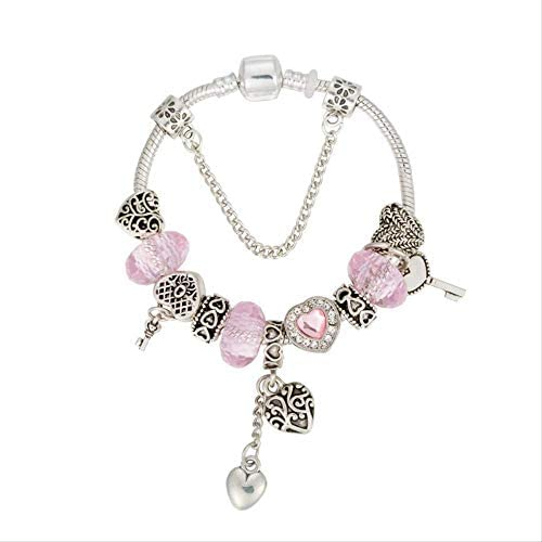 nobrand Perlen Armband mit Schlüssel für die Liebe DIY Schmuck Zubehör Geschenk für Frauen