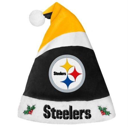 Forever Collectibles 9016323904 Pittsburgh Steelers Basic Santa Hat - 2016