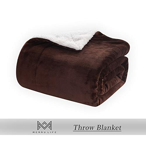 Sherpa Kitchen: MERRYLIFE Decorative Sherpa Throw Blanket Ultra-Plush