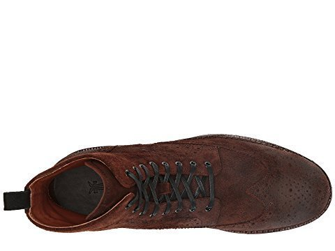 g Brogue Lace-Up Dark Brown Waxed Suede 9 D US (Brogue Shoe Boot)