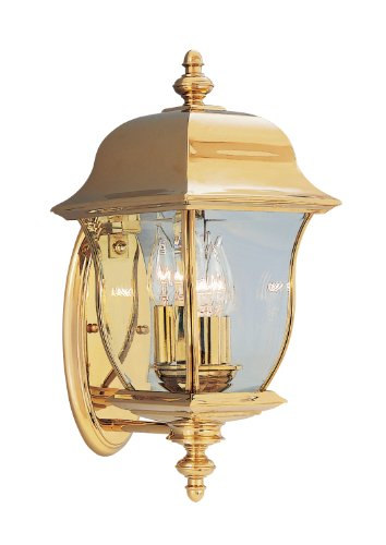 Designers Fountain 1542-PVD-PB Gladiator Wall Lanterns, Brass Treated (Pvd Polish Brass)