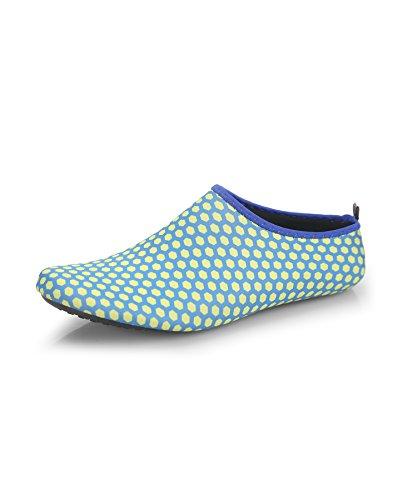 ZZLAY Unisex Quick-Dry Water Shoes Aqua Socks Barefoot Beach Swim Pool Surf Yoga Exercise Honeycomb Blue aWoCi