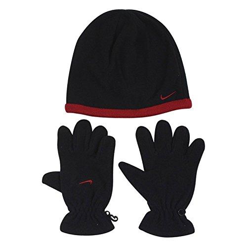 Nike Boys Winter Fleece Hat and Gloves Set, Size (Boys Hat Glove)