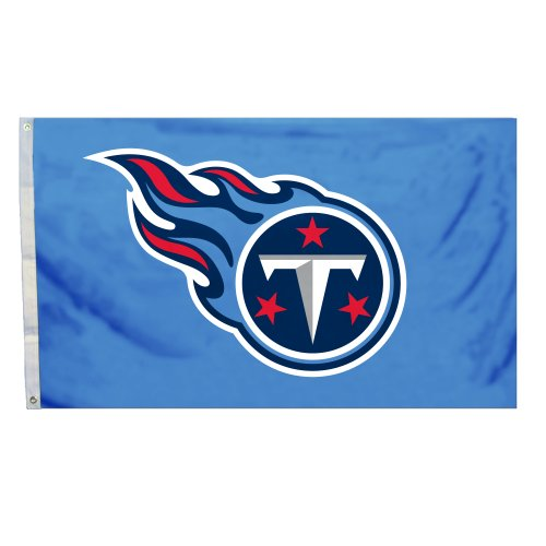 NFL Tennessee Titans Flag with Grommetts, 3 x 5-Feet (Display Titans Tennessee)