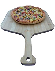 Fiery Chef 19.7-inch x 12.6-inch Premium Natural Solid Three Layers Bamboo Pizza Peel, Paddle for Homemade Pizza and Bread Baking