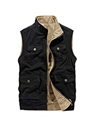 Vest Autumn Photography Fishing Vest Male Thin Section Vest Spring and Autumn Large Size Multi-Pocket Outdoor Vests Tooling Coat ZHJING (Size : XL)