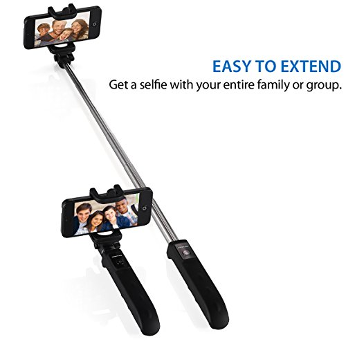 poweradd 2nd gen bluetooth selfie stick self portrait monopod with built in remote shutter for. Black Bedroom Furniture Sets. Home Design Ideas
