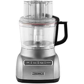 KitchenAid RKFP0922CU  Food Processor with ExactSlice System  9-Cup, Contour Silver, (Certified Refurbished)