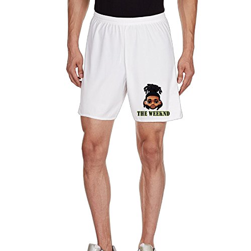 Kim Men's Football Training Shorts Household Pants For Men's Size XL White