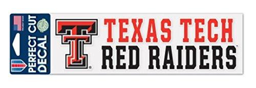 Wincraft NCAA Texas Tech Red Raiders 3 x 10 inch Perfect Cut Decal