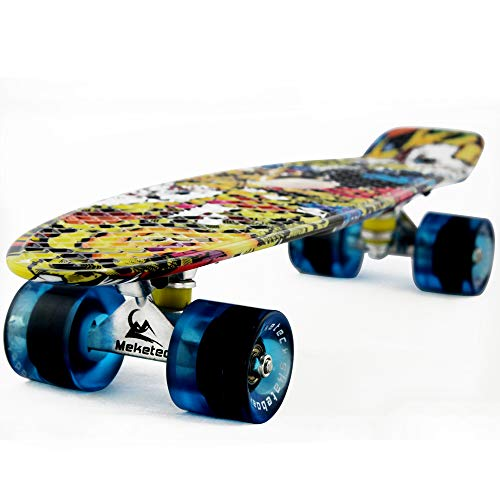 MEKETEC Skateboard Toddler 22 inch Complete Mini Cruiser Boys Skateboards for Kids Girl Youth Beginner Children Teenagers Adults Paw Patrol Dog(Joker) -