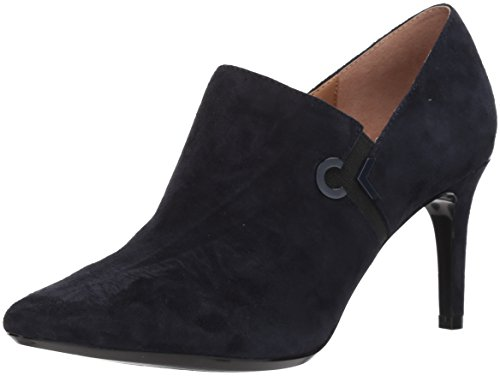 Joanie Deep Black Boot Suede Navy Calvin Klein Women's Ankle OwpxCFqS