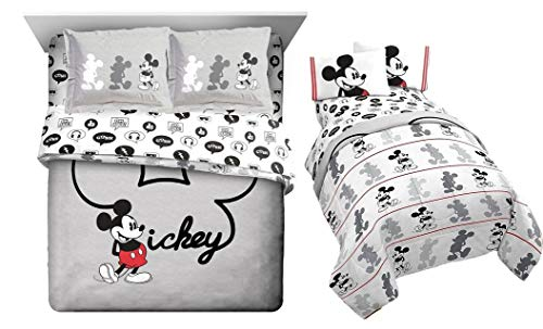 Franco Mickey Mouse 7pc Full Size Comforter Set (Comforter + 2 Pillow Shams + 4pc Size Sheet)