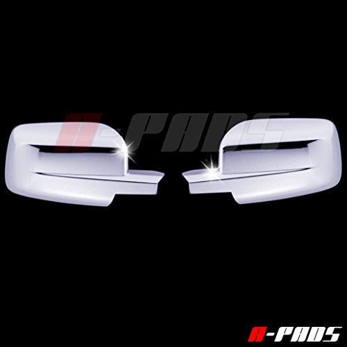 A-PADS 2 Chrome Mirror Covers for Dodge RAM 1500 2009-2015 / RAM 2500+3500 2010-2014 - FULL Mirrors, WITHOUT Signal Fit