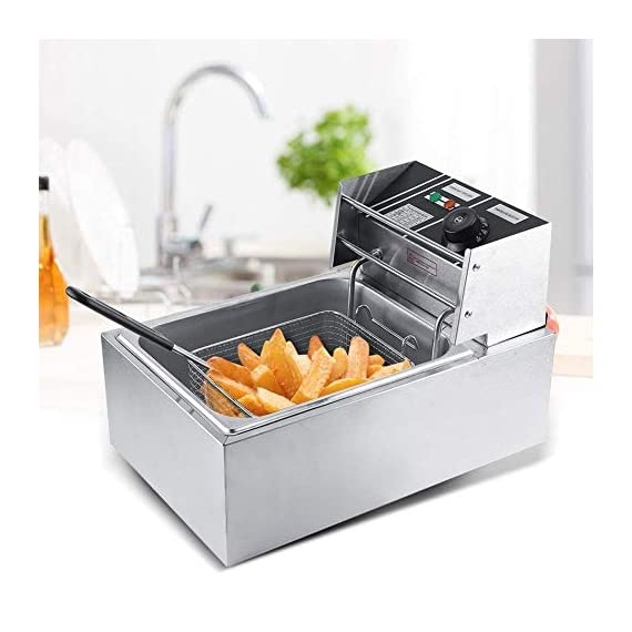 FROTH & FLAVOR Stainless Steel Electric Deep Fryer (Silver) 6 Litre with Copper Element 5