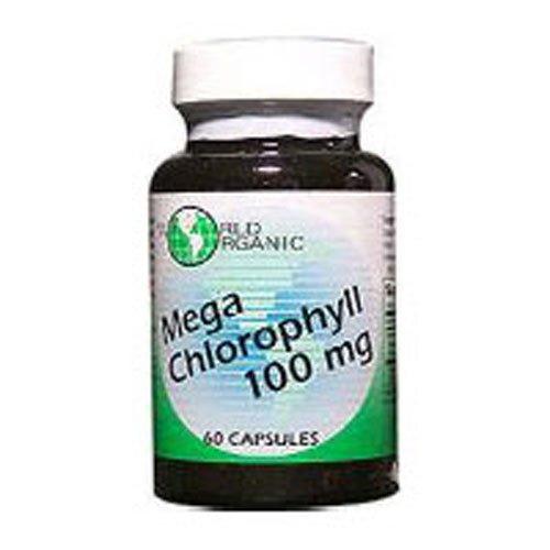 World Organics Mega Chlorophyll, 60 Caps 100 MG (Pack of 3)