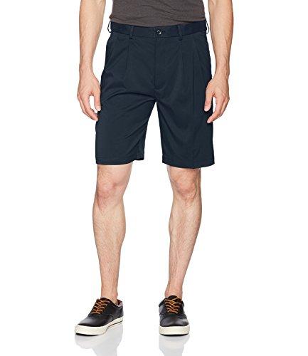 Savane Men's Pleated Mirco Fiber Short, Total Eclipse, 38 by Savane