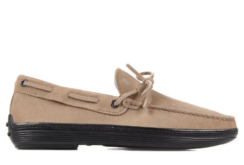 Tod's men's suede loafers moccasins marlin beige US size 11 XXM0MA00050SDDC815