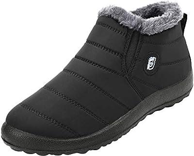 FEETCITY Womens Original Mini Classic Waterproof Winter Rain Snow Boots Black Women 4.5 B(M) US