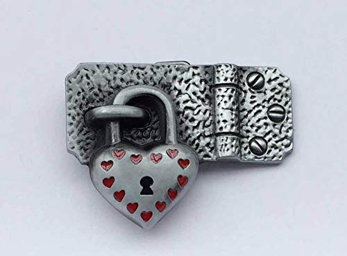 Buckes - Retail Western Cowgirl Heart Lock Belt Buckle SW-BY812 Suitable for 4cm wideth on Belt with continous Stock ()