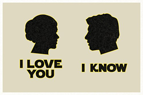 I Love You. I Know. Silhouettes Movie Poster 24x36 inch