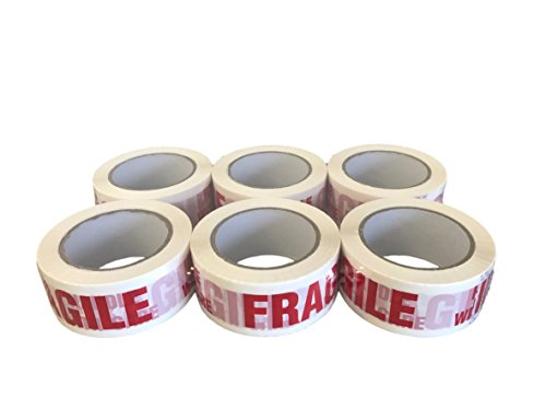 (Protak FRAGILE HANDLE WITH CARE Carton Sealing Printed Packing Tape PTF6, 2
