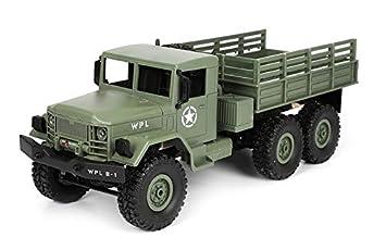 MODELTRONIC Camión Militar USA Dodge M35A2 6X6 WPL B-16 1:16 en Version Kit / Tracción a Las 6 Ruedas / Necesita Montaje Y Piezas ELECTRICAS / Maqueta ...
