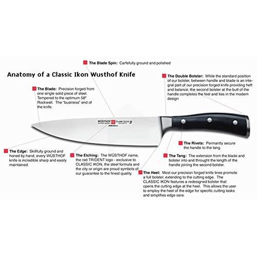 Wusthof 4172-7 Classic Ikon 5-Inch Santoku Hollow Edge Knife, One Size Black, Stainless by Wüsthof (Image #6)