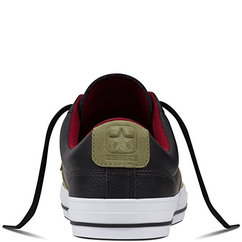 Converse Star Player Leather Ox - LONAS Hombre Negro