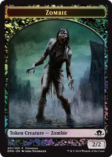 - Magic: the Gathering - Zombie Token (001/001) - Prerelease & Release Promos - Foil