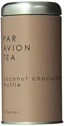Par Avion Tea Coconut Chocolate Truffle - Black Tea Blend With Cocoa Beans and Toasted Coconut - Small Batch Loose Leaf Tea in Artisan Tin - 4 oz
