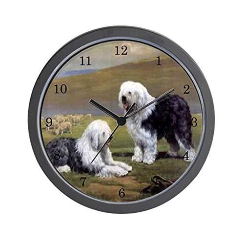 128 buyloii Old English Sheepdog Wall Clock - Unique Decorative 10 Inch Wall Clock.