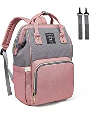 Mooedcoe Baby Nappy Changing Bag Rucksack Diaper Bag Nappy Changing Backpack for Mom and Dad
