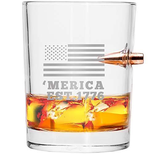 .308 Real Bullet Handblown Whiskey Glass – 'MERICA EST. ()