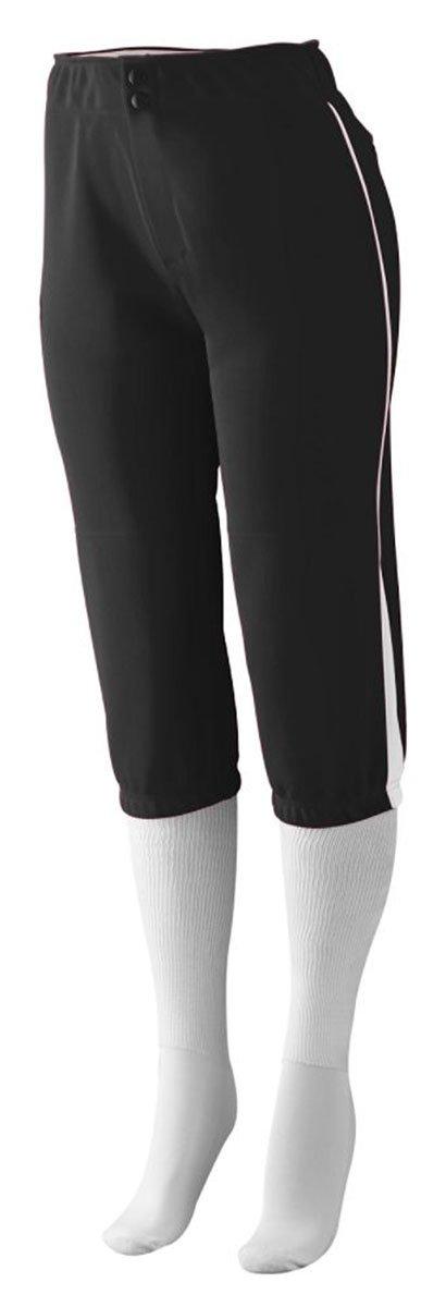 Augusta Sportswear PANTS レディース B00IUJGB2O L|ブラック/ホワイト ブラック/ホワイト L