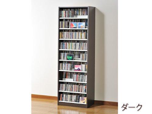 ☆コレクター絶賛☆大容量CDラック/DVDラック ダンデム 収納枚数:CD最大963枚、DVD最大432枚[TCS590-D]ダークブラウン B00DIMVMAE