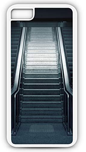 - iPhone 7 Plus 7+ Case Escalator Metro Stairs Subway Urban Station Customizable by TYD Designs in White Rubber