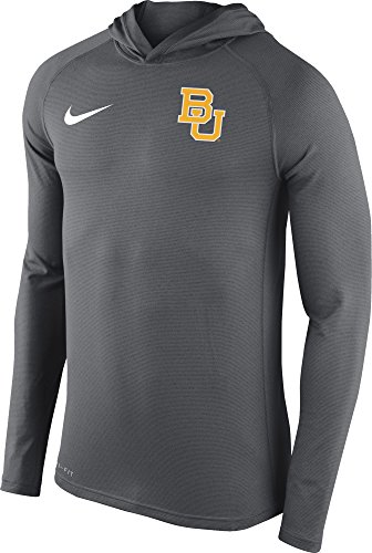 Nike Baylor Bears Men's Stadium Dri-FIT Touch Pullover Hoodie Shirt Top (2XL, Grey)