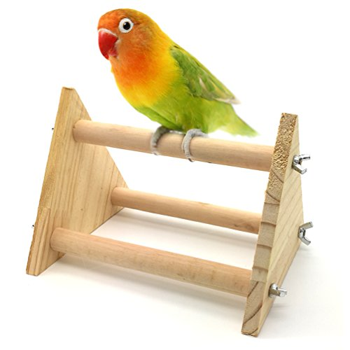 Mrli Pet Bird Table Perch Stands Wooden for Small Bird Parrot Budgies Parakeet Cockatiel Cockatoo Conure Lovebird or…