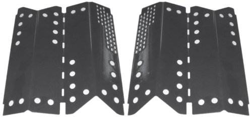 Music City Metals 94332 Porcelain Steel Heat Plate Replacement for Gas Grill Model Stok SGP4330SB, Set of 2 by Music City Metals