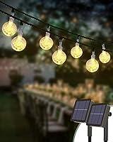 [2 Pack] Solar String Lights Outdoor, Kolpop 4.5M 30LED Solar Crystal Ball Fairy Lights Waterproof Solar Powered Festoon...