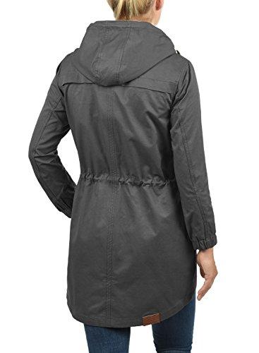 Parka Mujer Grey Entretiempo con Abrigo 2890 Capucha Dark Desires De Chaqueta para Inata 501AncZPp