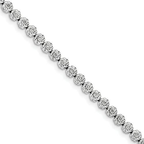(925 Sterling Silver Diamond Bracelet 7 Inch Fine Jewelry Gifts For Women For)